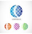 Corporate globe logo set vector image
