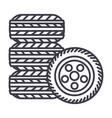 tirestire service line icon sign vector image