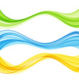abstract colorful flowing wave lines vector image