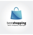 Abstract shopping logo icon concept isolated on vector image