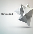 abstract white geometric shape polygonal vector image