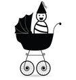 baby black vector image