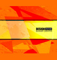 background orange texture design vector image vector image