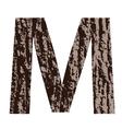 bark letter M vector image