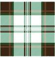 brown and green tartan plaid seamless pattern vector image vector image