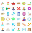 business information icons set cartoon style vector image
