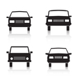 Cars black icons vector image vector image