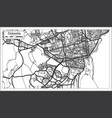 catania italy city map in retro style outline map vector image vector image