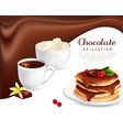 chocolate collection poster vector image