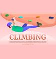 climbing teritory concept banner cartoon style vector image vector image