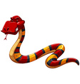 Colourful scary snake vector image vector image
