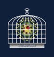 coronavirus covid19-19 blocked in cage for safety vector image vector image