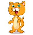 Cute cat cartoon standing vector image vector image