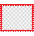cute red hearts border with space for text or vector image vector image