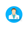 doctor icon is a symbol of medicine medical vector image