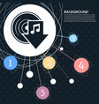download music icon with the background to the vector image