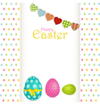 Easter egg background with panel and message vector image