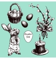 Easter Hand Drawn1 vector image vector image