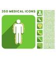 Exoskeleton Icon and Medical Longshadow Icon Set vector image vector image