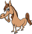 farm horse cartoon vector image vector image