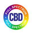 full spectrum cbd oil badge icon vector image