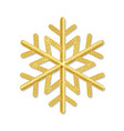 golden snowflake isolated white background vector image vector image