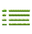 green grass border landscaped lawns meadows vector image vector image