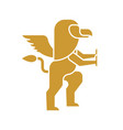 griffin heraldic symbol sign animal for coat of vector image vector image