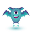 happy cartoon monster halloween monster vector image vector image