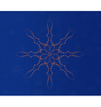 Merry Christmas holidays snowflake vector image vector image