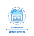 money transfer concept icon vector image vector image