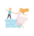 mother and her son walking together happy family vector image vector image