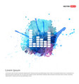 music sound wave icon - watercolor background vector image vector image