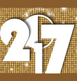 new year 2017 concept on golden shining rounds vector image vector image