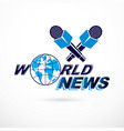 news and facts reporting logo composed using vector image