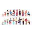 people generations human ages boys girls women vector image vector image
