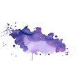 purple watercolor stain texture abstract vector image vector image