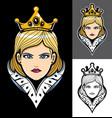 queen face mascot vector image vector image