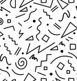 Retro 80s seamless pattern in black and white vector image vector image