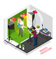 romantic photo session isometric vector image