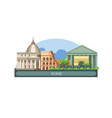 rome is capital italy skyline vector image vector image