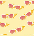 seamless pattern with yellow sun glasses vector image vector image