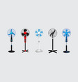 set electric fan vector image