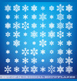set of 64 original beautiful snowflakes graphic vector image vector image