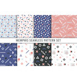 set of abstract geometric prints collection vector image vector image