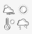 set weather conditions and natural temperature vector image vector image