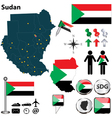 Sudan map vector image