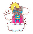 superhero animal cartoon vector image