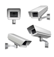 Surveillance camera set vector image vector image