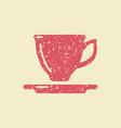 tea cup icon vector image vector image